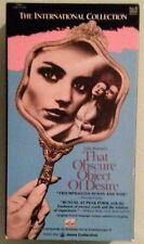 fernando rey  THAT OBSCURE OBJECT OF DESIRE carol bouquet  VHS VIDEOTAPE
