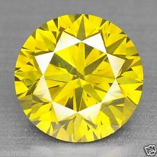 0.58 CTS EXCELLENT RARE TOP QUALITY GOLDEN YELLOW COLOR NATURAL DIAMONDS- SI1