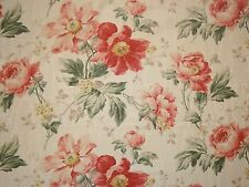P Kaufmann Floral BLUSH Green Pink Home Decor Drapery Upholstery Sewing Fabric