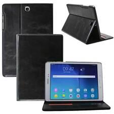 Luxury Leder Schutzhülle für Samsung Tab S2 Tablet Tasche Cover Case schwarz