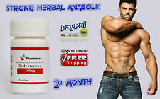 Strong Anabolic herbal TESTOSTERONE booster Max-Pump FITNESS Ecdysterone 500