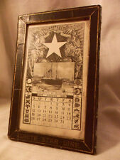 REAL MUSEAL WHITE STAR LINE CALENDAR 1906 WITH FRAME TITANIC - NO REPRODUCTION!!