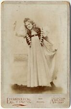 ACTRESS IN COSTUME BY BURKHOLDER + OWENS ASHLAND, OHIO, VINTAGE CABINET CARD