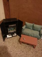 Barbie Doll Sized Furniture--Sofa and Entertainment Center