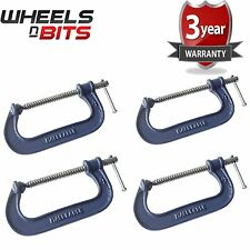 4x Heavy Duty G Clamp 4 Inch 100mm G-Clamps with Copper Screw with Swivel Pad