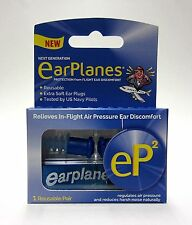 EarPlanes ep2 Reusable Ear Plugs Relieves Regulates Air Pressure Extra Soft New