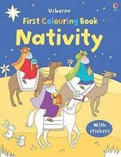 The Nativity Colouring Book with Stickers (Usborne Fir