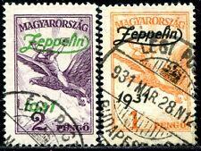 UNGARN 1931 478-479 gestempelt ZEPPELIN TADELLOS 180€(J8512