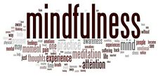 A3 Poster - Mindfulness Word Art (Picture Self Help Yoga Therapy Meditation)