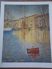 Post Impressionist Colour Print by PAUL SIGNAC THE RED BUOY