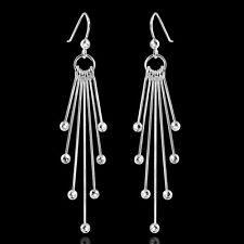 MATERIA 925 Sterling Silber Ohrhänger Kugel COMETA - Damen Ohrringe lang hängend