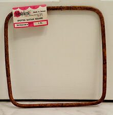 Vintage 70's 80's Mangelsen's Stopped Rattan Square Macrame Purse Bag Handle