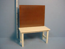 Dollhouse Miniature Work Bench Handcrafted #1100 Unpainted - 1/12th Sale
