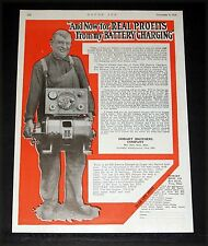 1919 OLD MAGAZINE PRINT AD, HOBART CHARGER, REAL PROFITS FROM BATTERY CHARGING!