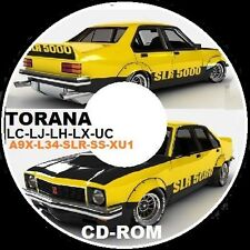 HOLDEN TORANA LC LJ LH LX UC XU1 L34 A9X PARTS ASSEMBLY RESTORATION CDROM