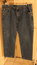 Carhartt MENS Blue Traditional Fit Jeans Pants B18 DST 40 x 30