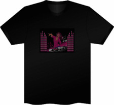 Sonido activado Led Intermitente T Shirt Hen party Stag Club Night Mujer Dj XS Small