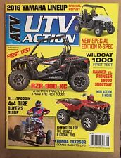 ATV UTV Action Wildcat 1000 Ranger Vs Pioneer Yamaha Aug 2015 FREE SHIPPING!
