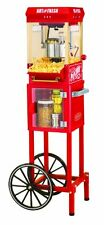 Nostalgia Electrics Popcorn MAKER CART, 2.5 Ounce Vintage POPCORN MACHINE, Red