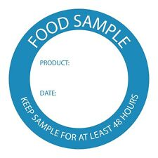 Food Sample Labels Food Preparation Stickers Box Of 500 50mm(Ø) Date Product