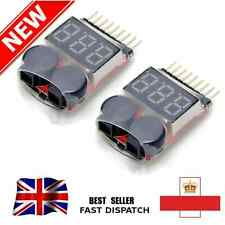 Lipo Alarm Battery Low Voltage 1S-8S Buzzer Indicator RC Tester Checker LED S