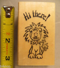 "Rubber Stamp - Anita's Sugarloaf - ""Hi There"" Lion"