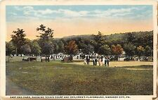 Mahanoy City Pennsylvania~East End Park~Tennis Court & Childrens Playground~1917