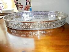 Sheffield Silver Plated Oval Gallery Tray