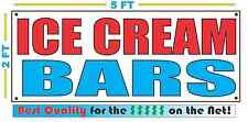 ICE CREAM BARS Banner Sign NEW Larger Size Best Quality for The $$$ Fair Food