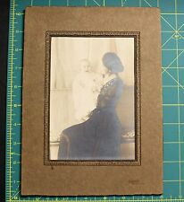 Vintage picture of woman and baby in orignal cardboard frame - New Castle PA