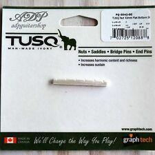 SILLET GRAPH TECH IVORY TUSQ Tele Strat 42mm PQ-5042-00 Slotted Nut FLAT short