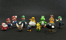 "Lot 12 Super Mario Bros 1-1/2"" ~2-1/2"" Mini Figures Figurine Series 1 Toys"