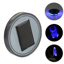 1 PCS Auto Decor Solar Blue LED Light Cup Mat For Marine Boat Car Truck Camper