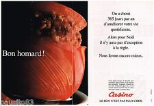 PUBLICITE ADVERTISING 095  1991  Les HYPERMARCHES CASINO  ( 2p) le homard NOEL