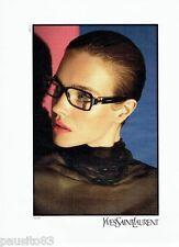 PUBLICITE ADVERTISING 116  2010  Yves Saint Laurent  collection lunettes