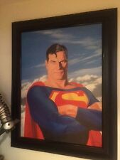 Alex Ross Superman Portrait Signed Giclee Canvas COA,Batman,Joker,Christmas gift
