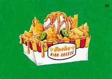 2016 TOPPS WACKY PACKAGES MLB - NACHO HIGH CHEESE - GREEN GRASS - STICKER #83