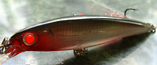 Rapala X-rap Slashbait XR-10 Lure Silver w/Custom GLOWING RED FIBER OPTIC EYES