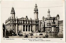CPA ESPAGNE - BARCELONA - 8. Plaça d' Antoni Lopez i Correus - Plaza de Antonio
