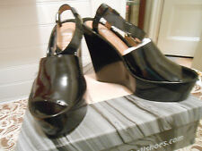 Jeffrey Campbell blck patent wedges, size 39, new with box