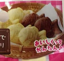 Microwave MINI TAIYAKI FISH Mold  Pancake Mix Cooking
