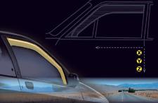 COPPIA DEFLETTORI DEFLETTORE ARIA ANTIVENTO FIAT 500X DAL 2015  FARAD 12.663