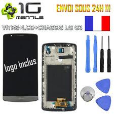 VITRE TACTILE + ECRAN LCD AVEC CHASSIS COMPLET LG G3 D855/850 GRIS/NOIR + OUTILS