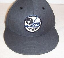 "Winnipeg Jets Vintage Hockey heather gray ""MITCHELL& NESS"" fitted cap 6 7/8 NWT"