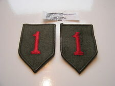 """Two New 1st Infantry Division """"Big Red One"""" Shoulder Patches"""