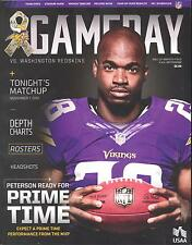 Minnesota Vikings Washington Redskins 11/7/13 NFL Game Program...Adrian Peterson