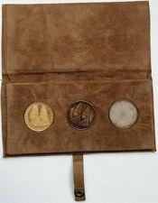 3 PROOF MEDALS SET GOLD COMMEMORATIVEVATICAN, ORIGINAL BOX