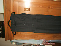 FRENCH CONNECTION STEAMPUNK  DRESS 10  /BLACK WORSTED DRESS UNWORN CONDITION