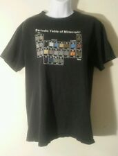 Vintage Periodic Table of Minecraft T-shirt Adult M Original