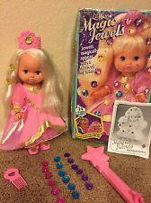 VTG LIL MISS MAGIC JEWELS Doll With Wand Jewels Brush Crown Box & Extras Mattel